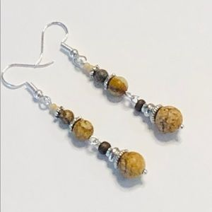 Natural Picture Jasper & Picasso Jasper Earrings